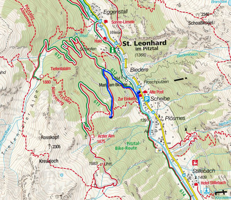 Naturrodelbahn Scheibe/Piösmes