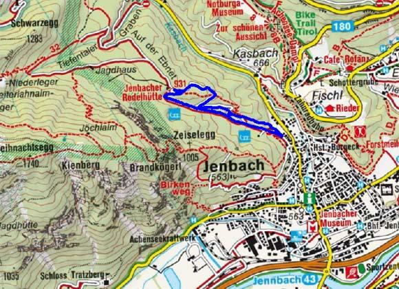 Jenbacher Rodelhütte - Naturrodelbahn