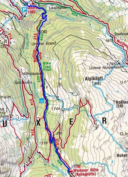 Weidener Hütte - Naturrodelbahn