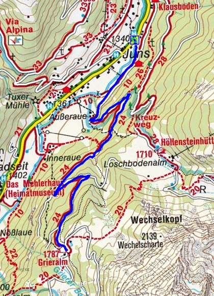 Grieralm - Naturrodelbahn