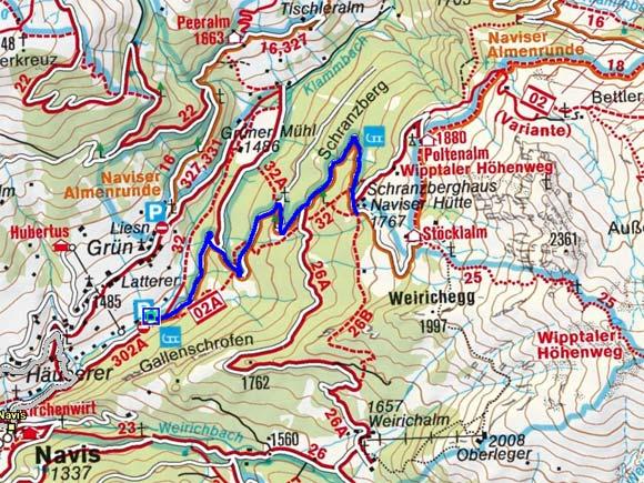 Naviser Hütte - Naturrodelbahn