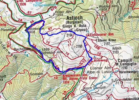 Kreuzwiesenalm - Astjochrunde