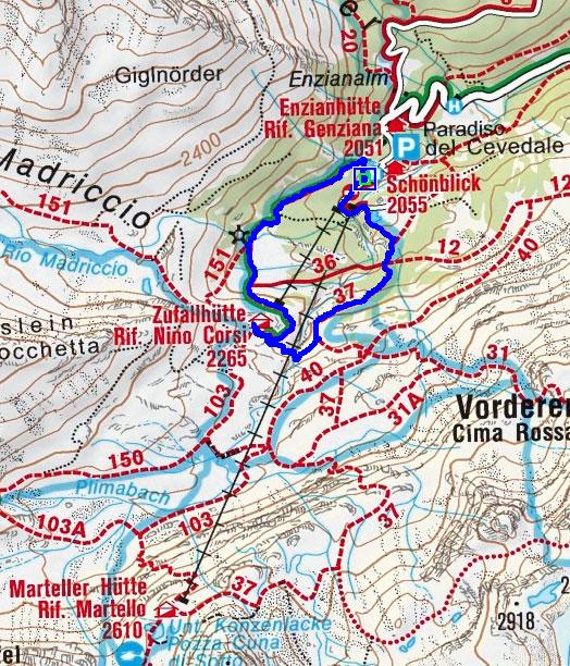 Zufallhütte - Hängebrücke Rundwanderung