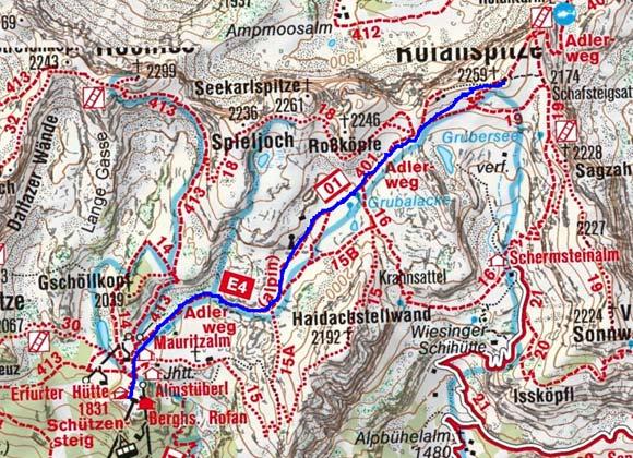 Rofanspitze (2259 m) von der Erfurter Hütte
