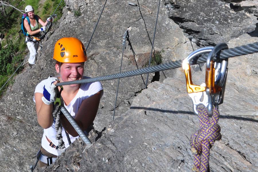Klettersteig Set Ausgelöst : Sicherheit am klettersteig