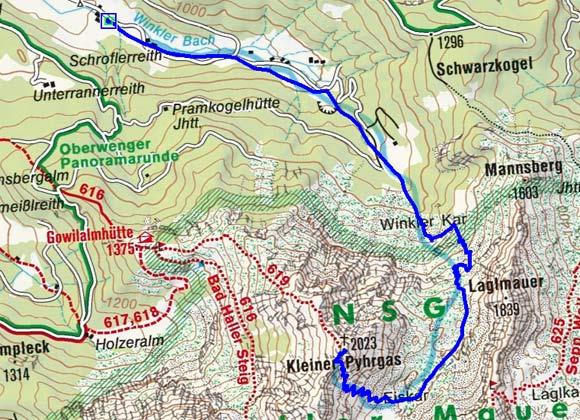 Kleiner Pyhrgas (2023 m) aus dem Winklertal