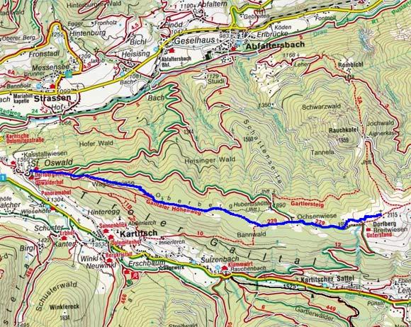 Dorfberg (2115 m) von St. Oswald