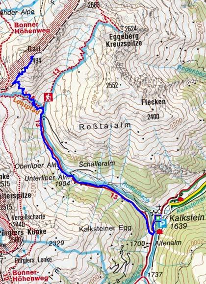 Gail (2494 m) von Kalkstein