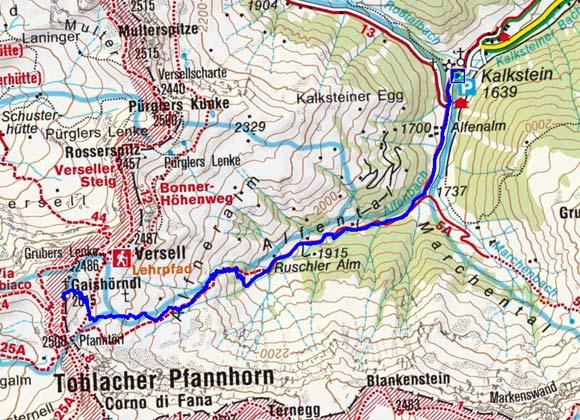 Gaishörndl (2615 m) von Kalkstein
