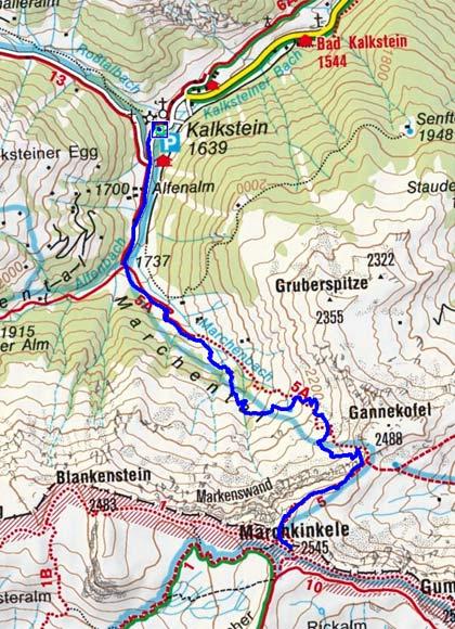 Marchkinkele (2545 m) durch das Marchental
