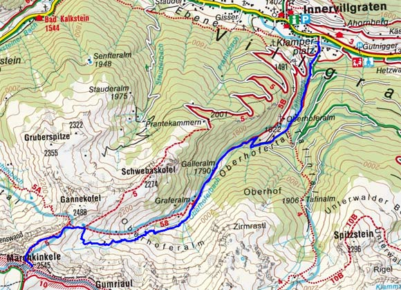 Marchkinkele (2545 m) durch das Oberhofertal