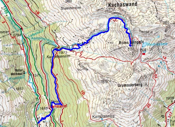 Rotes Kinkele (2763 m) von Kalkstein
