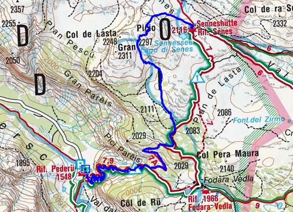 Col de Lasta (2297 m) von Pederü