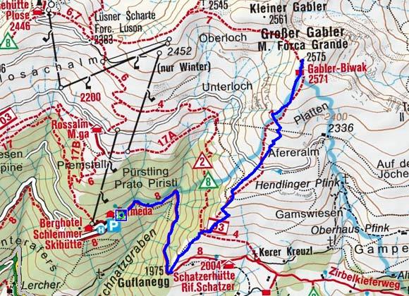 Großer Gabler (2575 m) von der Skihütte