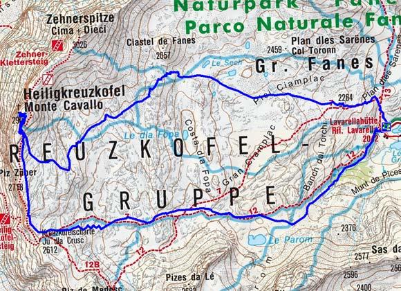 Heiligkreuzkofel (2907 m) von der Lavarellahütte