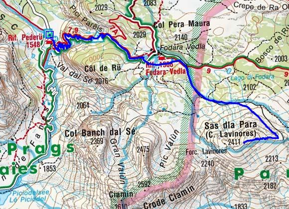 Sas dla Para (2462 m) von Pederü