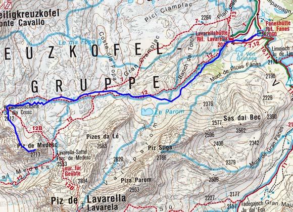 Piz de Medesc (2713 m) von der Faneshütte