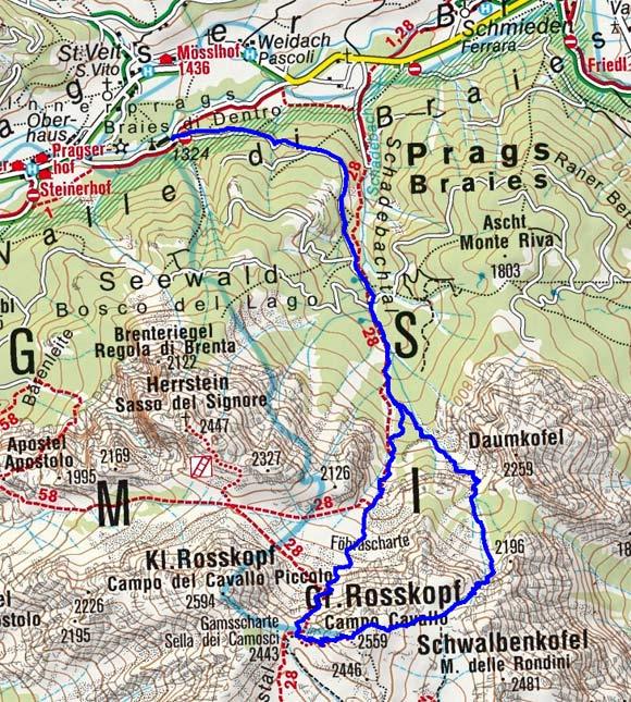 Großer Rosskopf (2559 m) von Schmieden