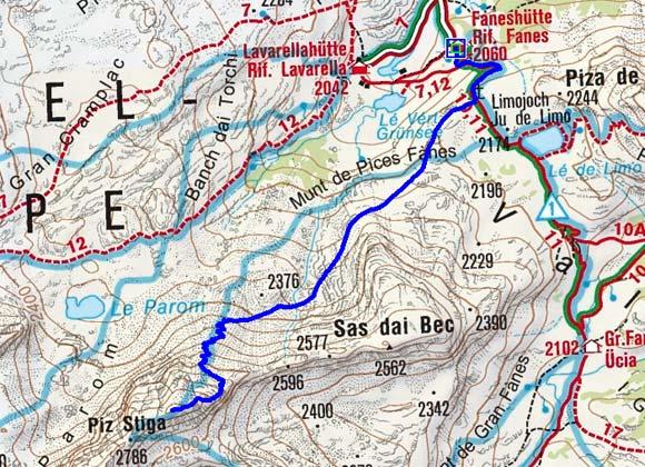 Stigaspitze (2787 m) von der Faneshütte