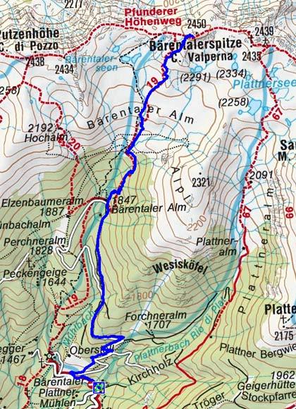 Bärentalerspitze (2450 m) vom Bärentalerhof
