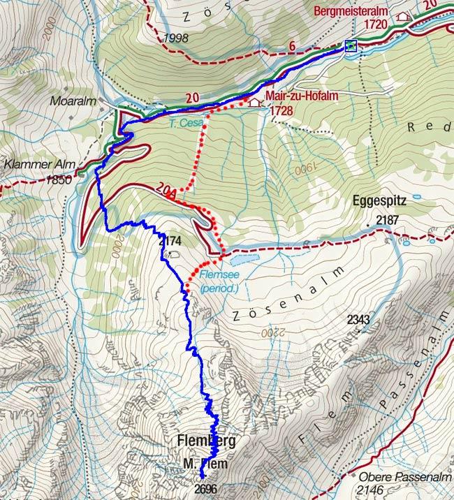 Flemmberg (2696 m) von Zösenberg
