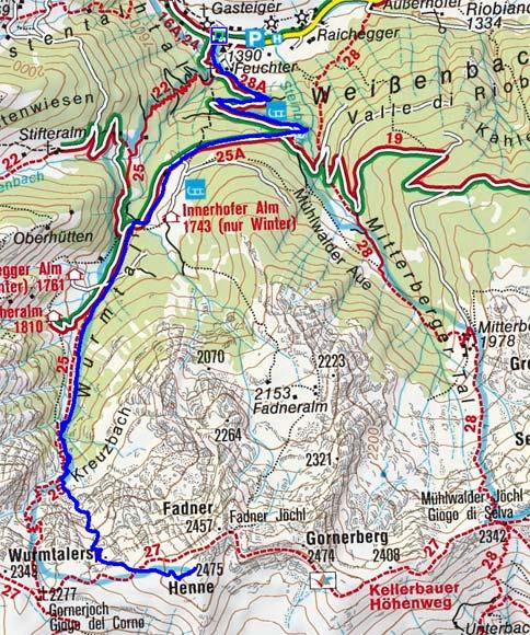 Gornerberg-Henne (2475 m) von Weißenbach