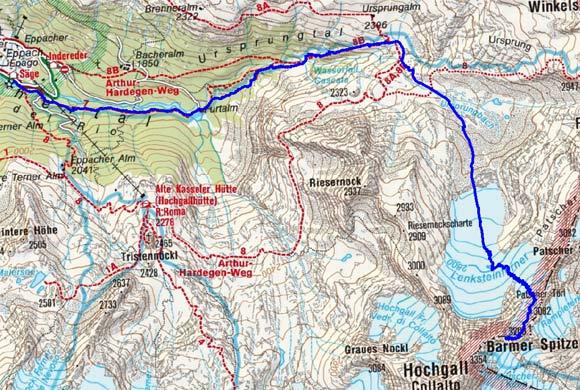 Barmer Spitze - Wintergipfel (3270 m) von Rein/Taufers