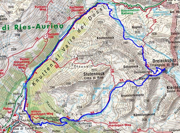 Dreieckspitze (3030 m) über die Koflerseen
