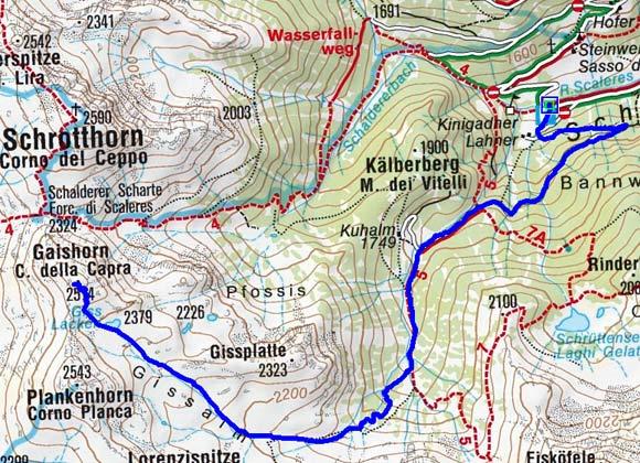 Gaishorn (2514 m) von Schalders