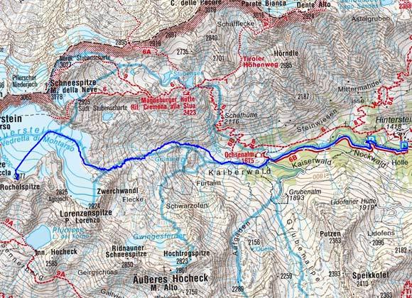 Rocholspitze (3077 m) vom Weiler Stein