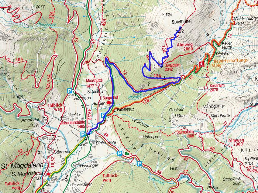 Spielbühel, 2272m -  Skitour von der Talschlusshütte