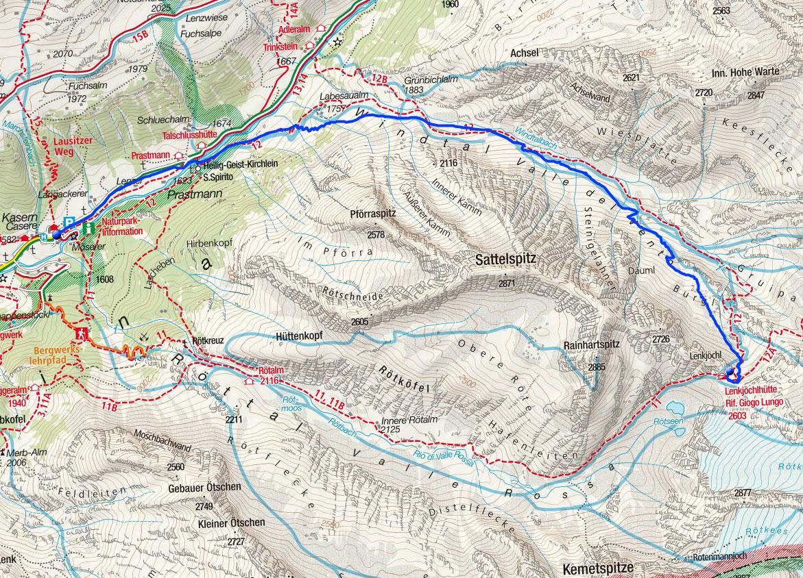 Lenkjöchlhütte (2603m) von Kasern