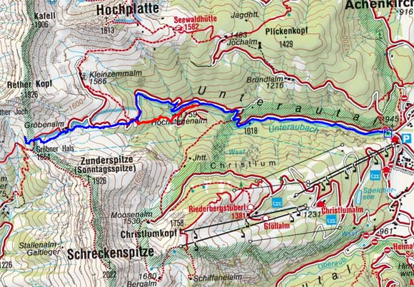 Gröbner Hals (1699 m) von Achenkirch