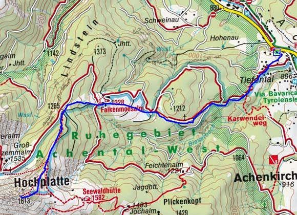 Hochplatte (1813 m) aus dem Achental