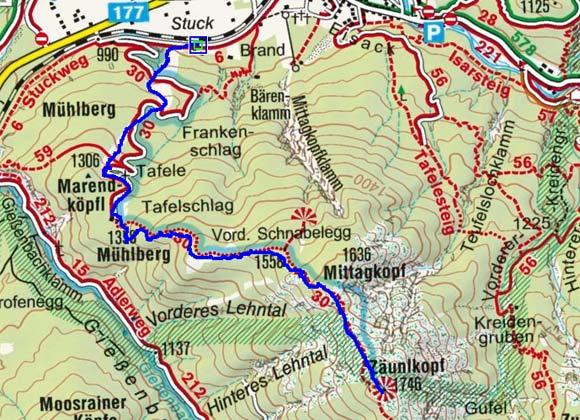Zäunlkopf (1746 m) von Scharnitz