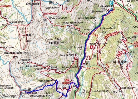 Gerstinger Joch (2035 m) von Aschau