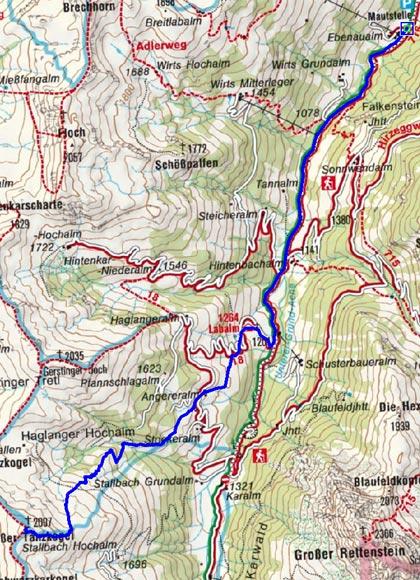 Großer Tanzkogel (2097 m) von Aschau