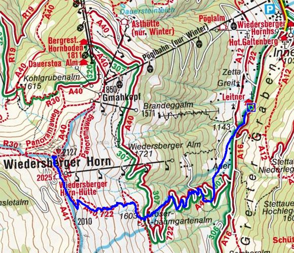 Wiedersberger Horn aus dem Greiter Graben (2127 m)