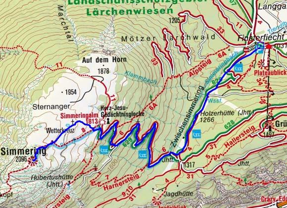 Simmering (2096 m) von Obsteig