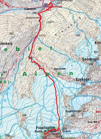 Fineilspitze (3514 m) vom Hochjochhospiz