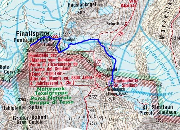 Fineilspitze (3514 m) von der Similaunhütte