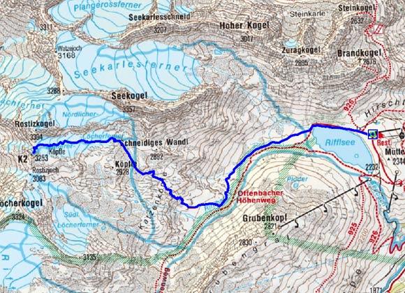 K 2 (3253m) vom Rifflsee
