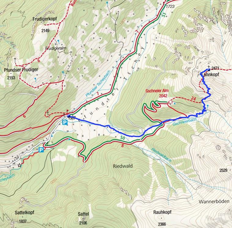 Lahnkopf (2471m) aus der Tscheylücke
