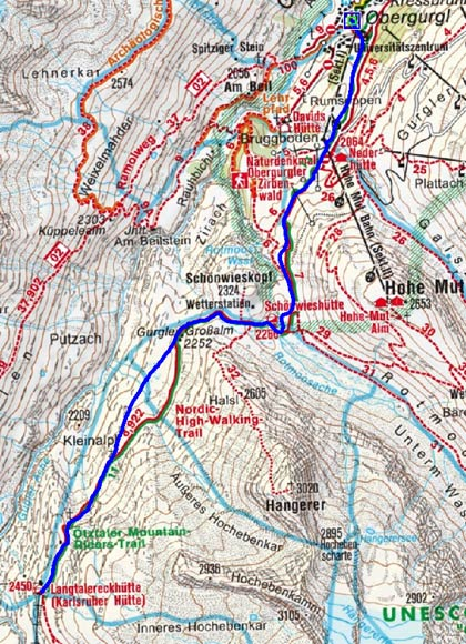 Langtalereckhütte (2450 m) von Obergurgl