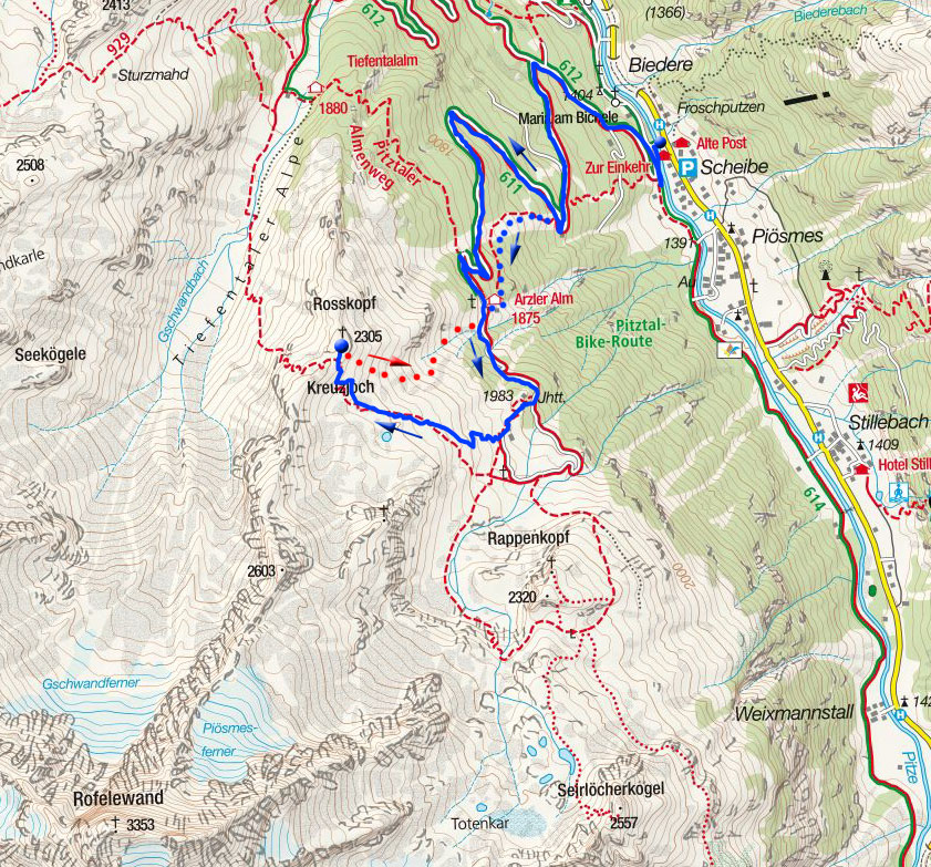 Rosskopf (2305m) von Scheibe