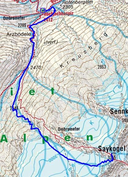 Saykogel (3355 m) vom Hochjoch Hospiz