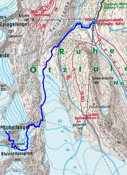 Schalfkogel (3537 m) von der Langtalereckhütte