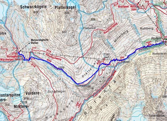 Vernagthütte (2755 m) von Vent