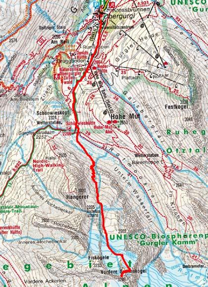 Vorderer Seelenkogel (3286 m) von Obergurgl