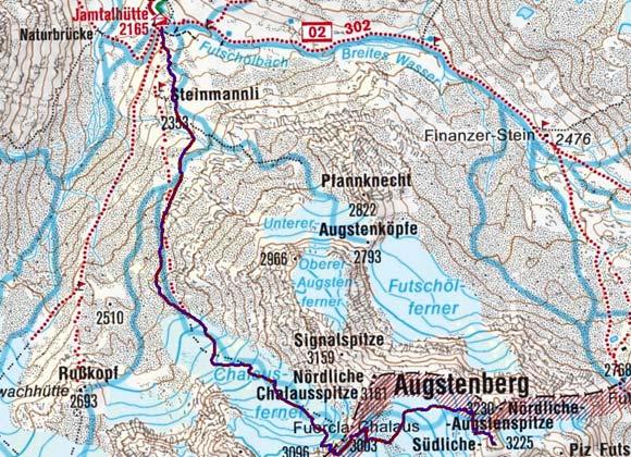 Augstenspitzen (3228 m/3225 m) von der Jamtalhütte